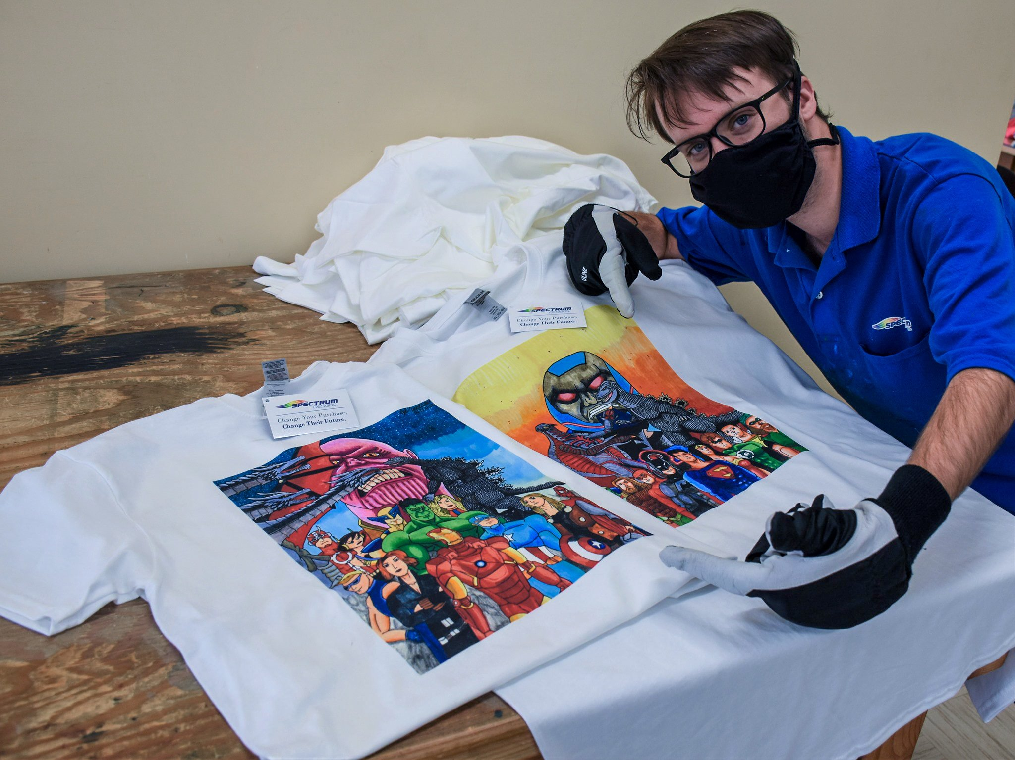 Spectrum Designs: Custom Apparel Shop Employing Adults with Autism