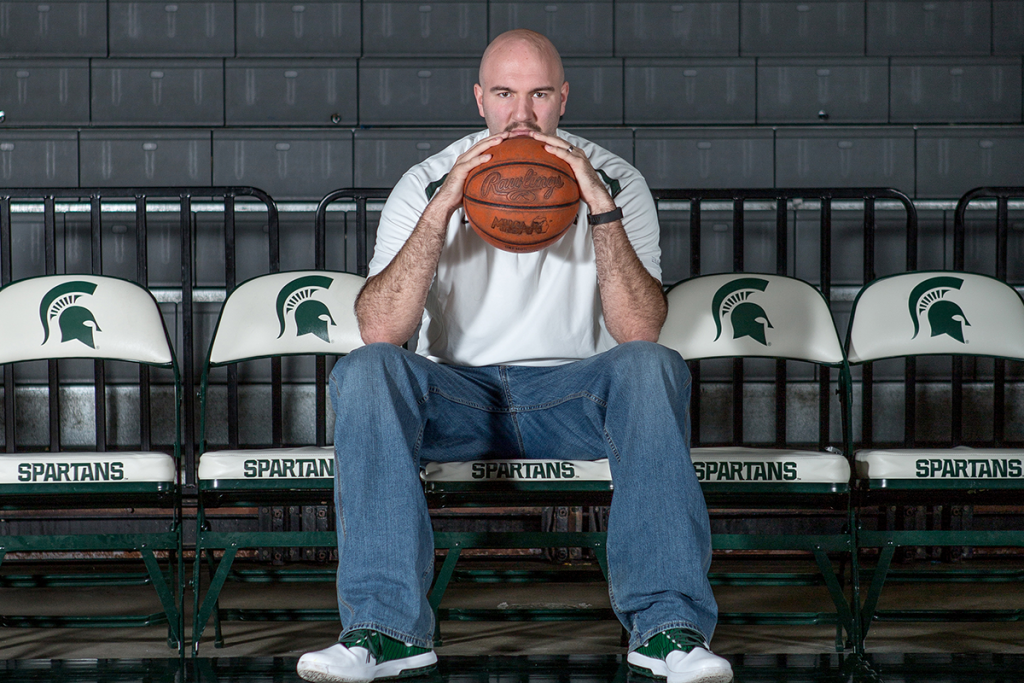 Former Michigan State basketball player Anthony Ianni is the first known person with Autism Spectrum Disorder to play Division I college basketball. (RAYMOND HOLT)